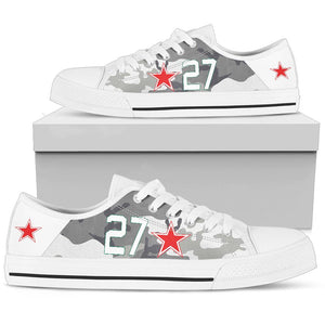 "Lavochkin La-7 ""White 27"" Inspired Men's Low Top Canvas Shoes - I Love a Hangar"