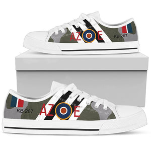 DH.98 Mosquito of Guy Gibson Inspired Women's Low Top Canvas Shoes - I Love a Hangar