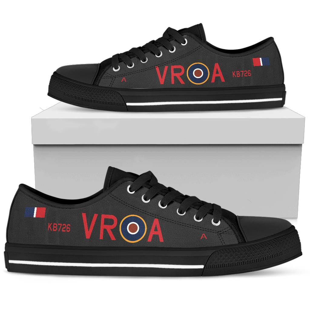 Lancaster VR-A Inspired Men's Low Top Canvas Shoes (Black) - I Love a Hangar