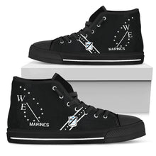 "Load image into Gallery viewer, VMA-214 ""Black Sheep"" Inspired Men's High Top Canvas Shoes - I Love a Hangar"