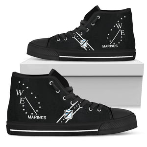 "VMA-214 ""Black Sheep"" Inspired Men's High Top Canvas Shoes - I Love a Hangar"