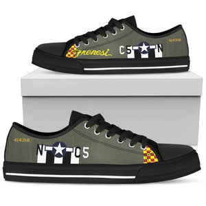 "P-51 ""Frenesi"" Inspired Women's Low Top Canvas Shoes - I Love a Hangar"