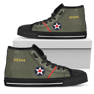 "B-25 ""Doolittle Raiders"" Inspired Women's High Top Canvas Shoes - I Love a Hangar"