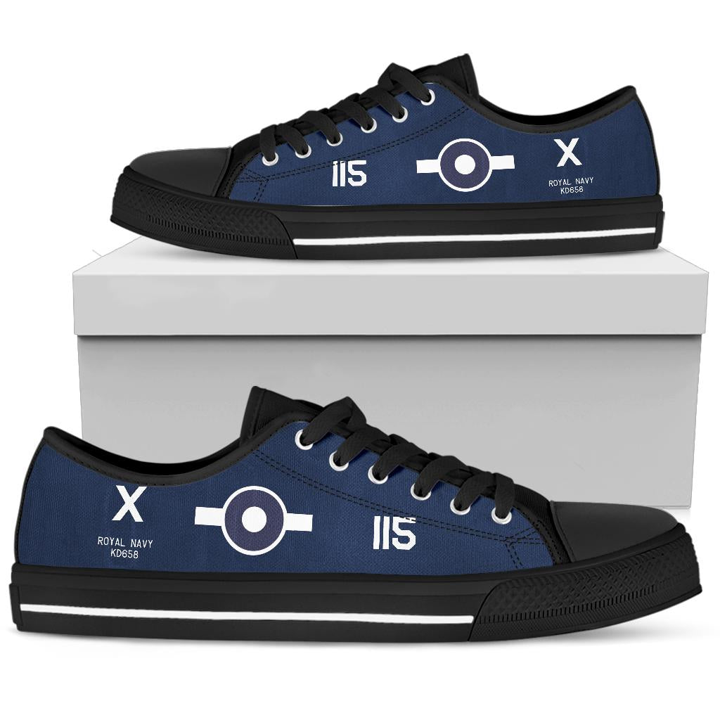 FG-1D Corsair of Lt. Robert Gray VC Inspired Women's Low Top Canvas Shoes - I Love a Hangar
