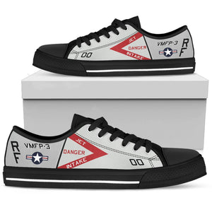 RF-4B Phantom VMFP-3 Inspired Men's Low Top Canvas Shoes - I Love a Hangar