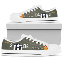 "Load image into Gallery viewer, P-51 ""Old Crow"" Inspired Men's Low Top Canvas Shoes - I Love a Hangar"