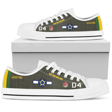 Load image into Gallery viewer, Lt Rui Moreira Lima P-47D Thunderbolt Inspired Men's Low Top Canvas Shoes - I Love a Hangar