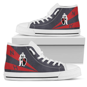 "VFA-154 ""Black Knights"" Inspired Men's High Top Canvas Shoes - I Love a Hangar"