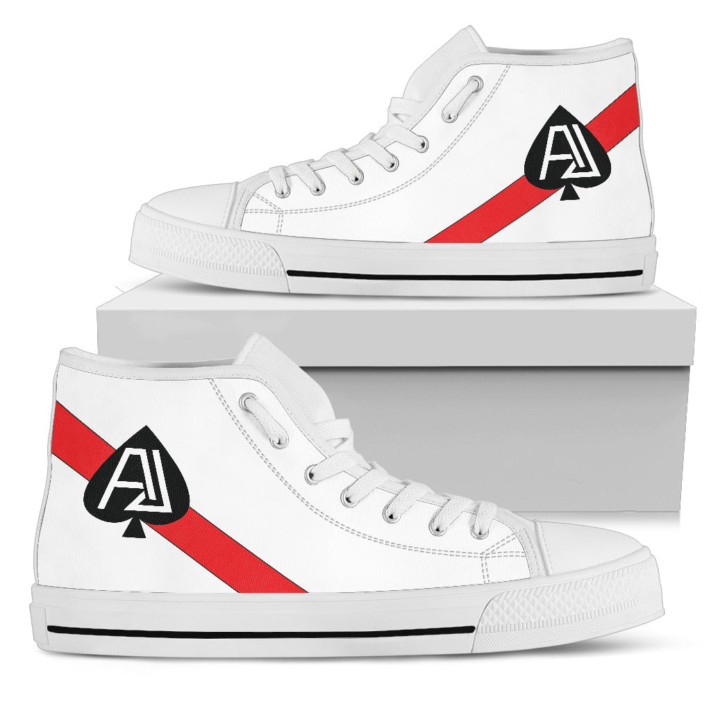 VF-41 Black Aces Inspired Men's High Top Canvas Shoes - I Love a Hangar