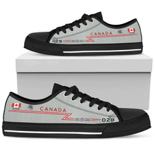 Load image into Gallery viewer, RCAF CF-101 Voodoo 416 SQN Inspired Women's Low Top Canvas Shoes - I Love a Hangar