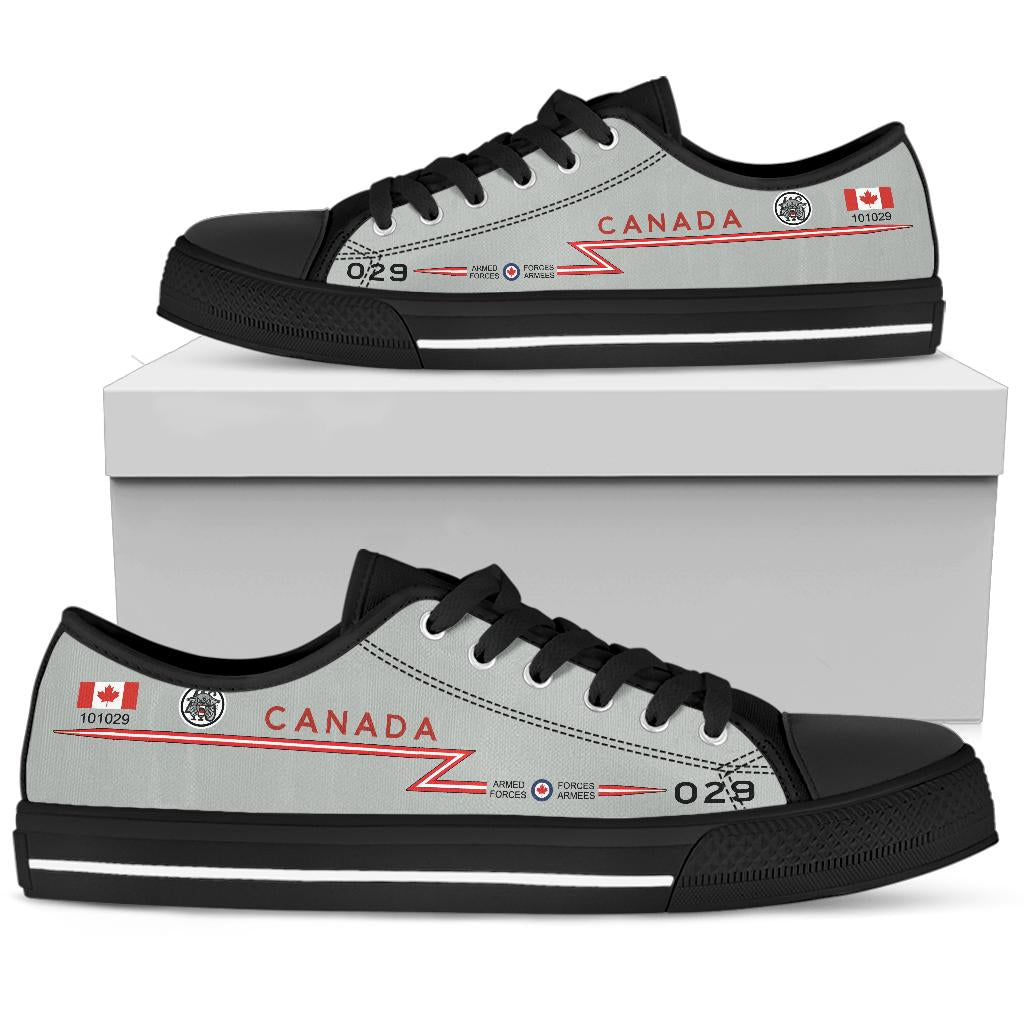 RCAF CF-101 Voodoo 416 SQN Inspired Women's Low Top Canvas Shoes - I Love a Hangar