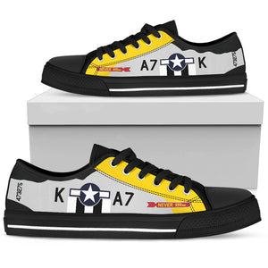 "P-51D ""Never Miss"" Inspired Men's Low Top Canvas Shoes - I Love a Hangar"