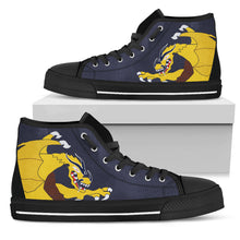 "Load image into Gallery viewer, VFA-192 ""Golden Dragons"" Inspired Men's High Top Canvas Shoes (Express Shipping) - I Love a Hangar"