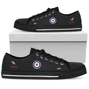 """Black Arrows"" Hawker Hunter XG194 Inspired Women's Low Top Canvas Shoes - I Love a Hangar"