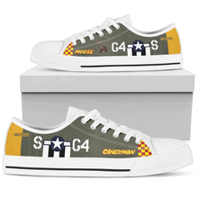 "Load image into Gallery viewer, P-51D ""Moose"" Inspired Women's Low Top Canvas Shoes - I Love a Hangar"