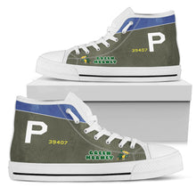 "Load image into Gallery viewer, A-20 ""Green Hornet"" Inspired Women's High Top Canvas Shoes - I Love a Hangar"