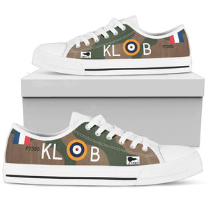 "Spitfire ""Kiwi III"" KL-B Inspired Women's Low Top Canvas Shoes - I Love a Hangar"