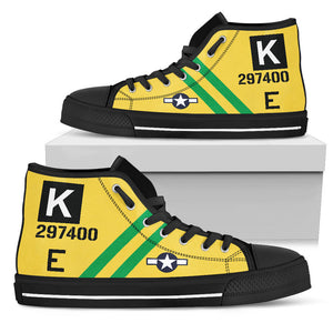 "B-17G ""Fuddy Duddy"" Inspired Men's High Top Canvas Shoes - I Love a Hangar"