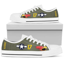 "Load image into Gallery viewer, P-40N Warhawk ""Parrot Head"" Inspired Men's Low Top Canvas Shoes - I Love a Hangar"