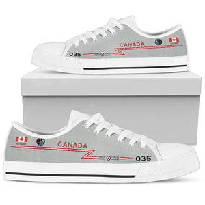 RCAF CF-101 Voodoo 409 SQN Inspired Women's Low Top Canvas Shoes - I Love a Hangar