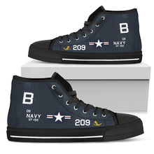 Load image into Gallery viewer, F9F-5 Panther VF-192 Inspired Women's High Top Canvas Shoes - I Love a Hangar