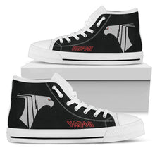 "Load image into Gallery viewer, VAQ-141 ""Shadowhawks"" Inspired Men's High Top Canvas Shoes - I Love a Hangar"