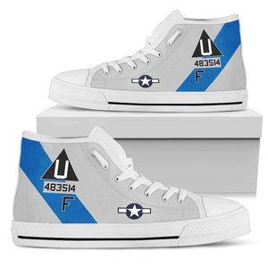 "B-17G ""Sentimental Journey"" Inspired Men's High Top Canvas Shoes - I Love a Hangar"