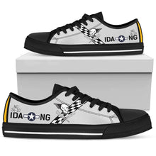 "Load image into Gallery viewer, T-6D Texan ""Hog Wild Gunner"" Inspired Women's Low Top Canvas Shoes - I Love a Hangar"