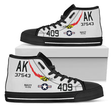 "Load image into Gallery viewer, VA-176 ""Thunderbolts"" Inspired Women's High Top Canvas Shoes - I Love a Hangar"