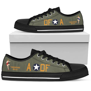 "B-17F ""Memphis Belle"" Inspired Men's Low Top Canvas Shoes - I Love a Hangar"