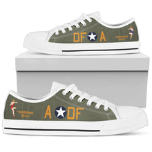 "Load image into Gallery viewer, B-17F ""Memphis Belle"" Inspired Women's Low Top Canvas Shoes - I Love a Hangar"