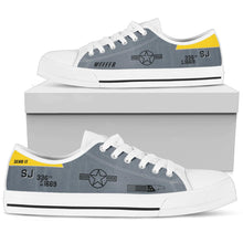 Load image into Gallery viewer, F-15 336th FS Inspired Men's Low Top Canvas Shoes - I Love a Hangar