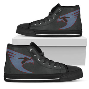 "VFA-137 ""Kestrels"" Inspired Women's High Top Canvas Shoes - I Love a Hangar"