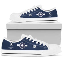 Load image into Gallery viewer, FG-1D Corsair of Lt. Robert Gray VC Inspired Women's Low Top Canvas Shoes - I Love a Hangar