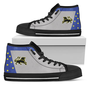 "VF-213 'Black Lions"" F-14D Inspired Men's High Top Canvas Shoes - I Love a Hangar"