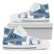 Load image into Gallery viewer, 65th Aggressor Squadron Inspired Women's High Top Canvas Shoes - I Love a Hangar