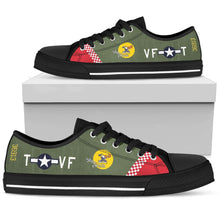 "Load image into Gallery viewer, P-51 ""Shangri-la"" Inspired Women's Low Top Canvas Shoes - I Love a Hangar"
