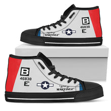 "Load image into Gallery viewer, B-17 ""Spirit of Martinez"" Inspired Women's High Top Canvas Shoes"