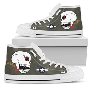 "P-40N ""The Burma Banshees"" Inspired Men's High Top Canvas Shoes - I Love a Hangar"