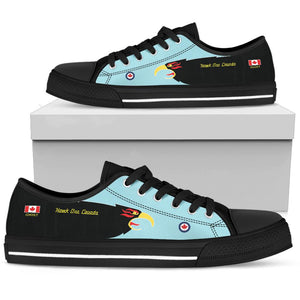 """Hawk One Canada"" of 409 SQN Inspired Men's Low Top Canvas Shoes - I Love a Hangar"
