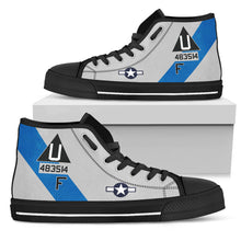 "Load image into Gallery viewer, B-17G ""Sentimental Journey"" Inspired Men's High Top Canvas Shoes - I Love a Hangar"