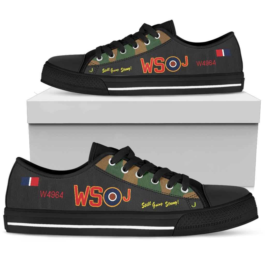 Avro Lancaster WS-J Inspired Men's Low Top Canvas Shoes (Camouflage) - I Love a Hangar