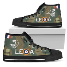 "Load image into Gallery viewer, Hawker Hurricane of ""Willie"" McKnight Inspired Men's High Top Canvas Shoes - I Love a Hangar"