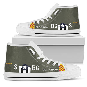 "P-51 ""Old Crow"" Inspired Men's High Top Canvas Shoes"
