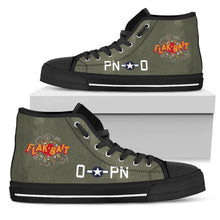 "Load image into Gallery viewer, B-26 ""Flak-Bait"" Inspired Men's High Top Canvas Shoes - I Love a Hangar"