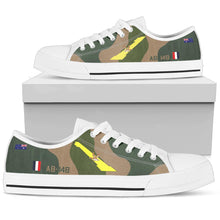 Load image into Gallery viewer, RAAF 1 Squadron F-111 Inspired Women's Low Top Canvas Shoes - I Love a Hangar