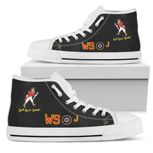 Load image into Gallery viewer, Avro Lancaster WS-J Inspired Men's High Top Canvas Shoes (Black) - I Love a Hangar
