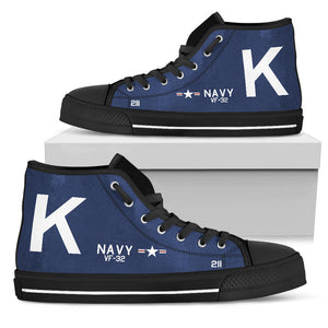 F4U-7 Corsair of Jesse Brown Inspired Women's High Top Canvas Shoes - I Love a Hangar