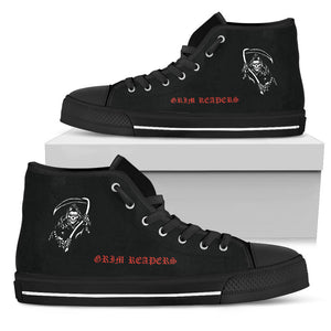 VF-101 Grim Reapers Inspired Women's High Top Canvas Shoes - I Love a Hangar