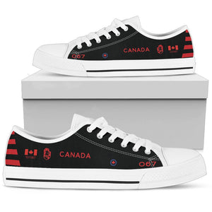 "RCAF EF-101B ""Electric Voodoo"" 414 SQN Inspired Men's Low Top Canvas Shoes - I Love a Hangar"